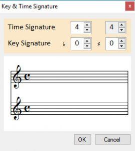 New Time and Key Signature