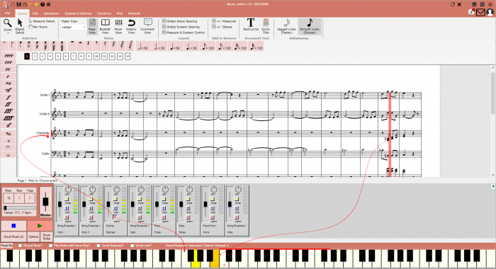 Each track gets its own Virtual Keyboard.